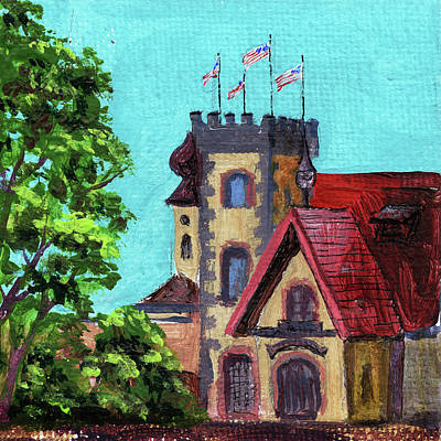 Michigan Frankenmuth Painting - Downtown Frankenmuth Michigan Impressionistic Landscape Xxvi by Irina Sztukowski