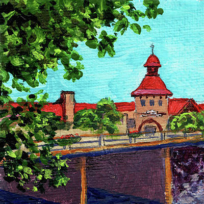 Michigan Frankenmuth Painting - Downtown Frankenmuth Michigan Impressionistic Landscape Xxvii by Irina Sztukowski