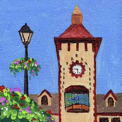 Michigan Frankenmuth Painting - Downtown Frankenmuth Michigan Impressionistic Landscape Xxxx by Irina Sztukowski