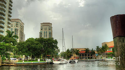 Photograph - downtown Ft Lauderdale waterfront by Ules Barnwell