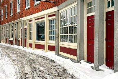 Downtown Gardiner Winter Art Print