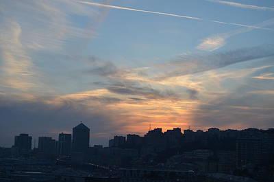 Downtown Genoa At Sunset Art Print by Dawn Crichton