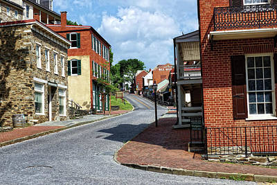 Armory Square Photograph - Downtown Harpers Ferry by John Trommer