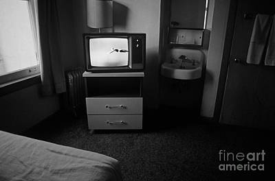 Photograph - Downtown Hotel Room At Mid Day With Tv  by Jim Corwin