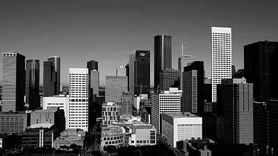 Photograph - Downtown Houston Bw by Judy Vincent