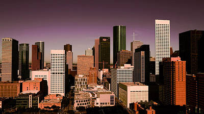 Photograph - Downtown Houston Evening by Judy Vincent