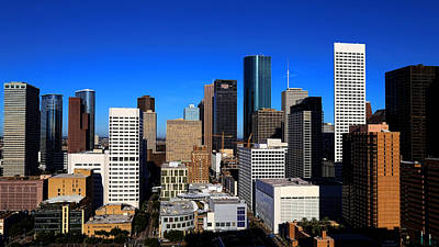 Photograph - Downtown Houston by Judy Vincent