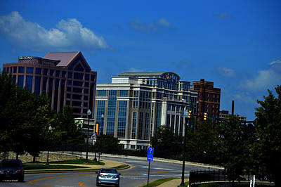 Photograph - Downtown Huntsville Alabama Skyline  by Lesa Fine