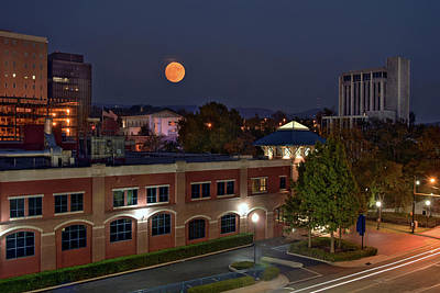 Downtown Huntsville Photograph - Downtown Huntsville Supermoon by Jeannee C Gannuch