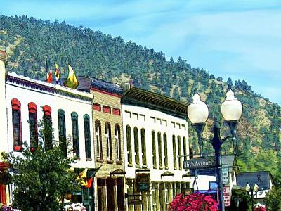 Digital Art - Downtown Idaho Springs by Ric Darrell