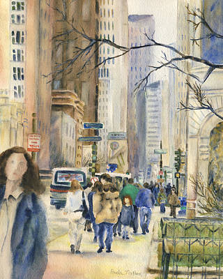 Painting - Downtown Chicago In Autumn by Paula Nathan
