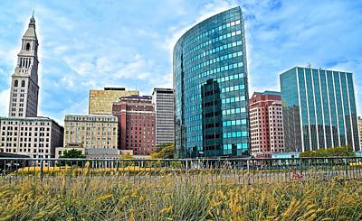 Photograph - Downtown In Hartford Connecticut by Frozen in Time Fine Art Photography