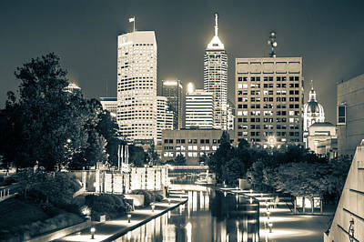 Indianapolis Photograph - Downtown Indianapolis Skyline by Gregory Ballos