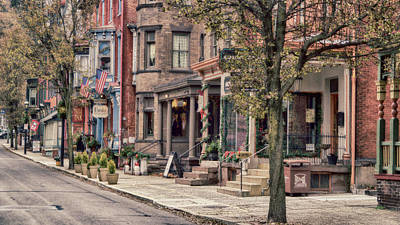 Photograph - Downtown Jim Thorpe, Pa. by Frank Morales Jr