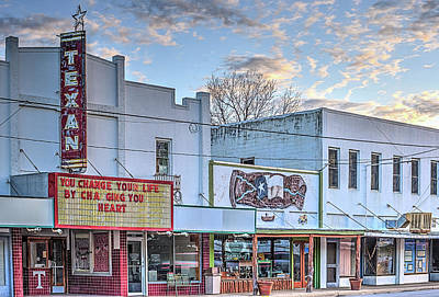 Downtown Junction Texas Art Print by JC Findley