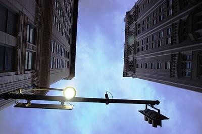 Photograph - Downtown Kansas City Street Light by Matt Harang