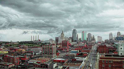 Digital Art - Downtown Kc by Dave Luebbert
