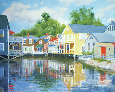 Painting - Downtown Kennebunkport Arundel Court by Candace Lovely