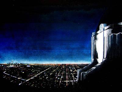 Downtown La Nights Art Print