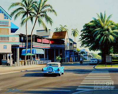 Downtown Lahaina Maui Art Print by Frank Dalton