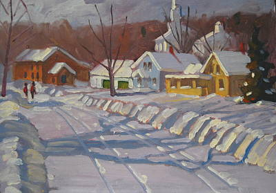 Painting - Downtown by Len Stomski