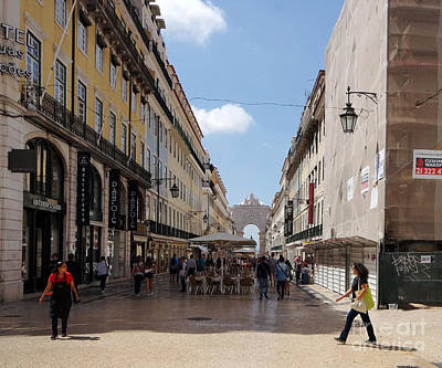 Photograph - downtown Lisbon by Rudi Prott