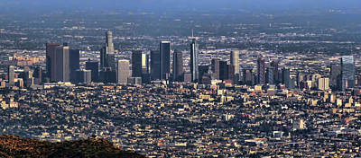 Photograph - Downtown Los Angeles From Above 2 by Helaine Cummins