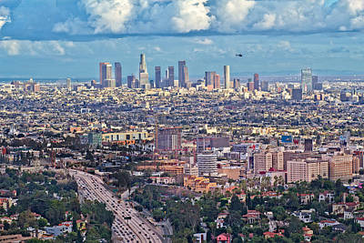 Photograph - Downtown Los Angeles by Kim Wilson