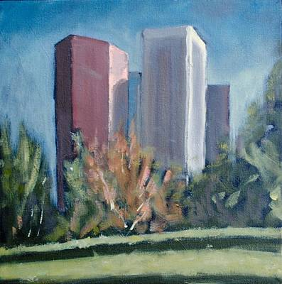 Painting - Downtown Los Angeles by Richard Willson