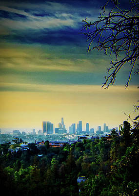 Photograph - Downtown Los Angeles Skyline by Joseph Hollingsworth