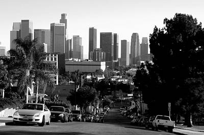 Photograph - Downtown Los Angeles Skyline by Matt Harang
