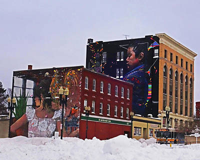 Photograph - Downtown Lynn In The Winter Building Artwork by Toby McGuire