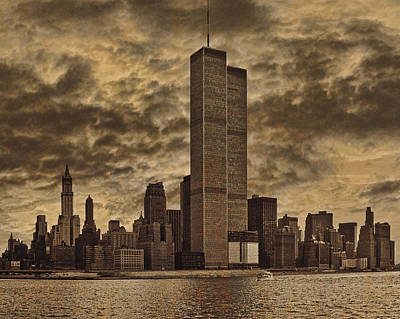 Twin Towers Photograph - Downtown Manhattan Circa Nineteen Seventy Nine  by Chris Lord