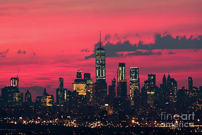 Photograph - Downtown Manhattan Pre Dawn by Zawhaus Photography