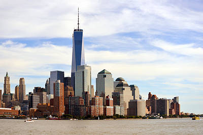 Photograph - Downtown Manhattn - Freedom Tower by Yue Wang