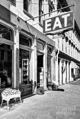 Photograph - Downtown Maysville Kentucky # 6 Black And White by Mel Steinhauer