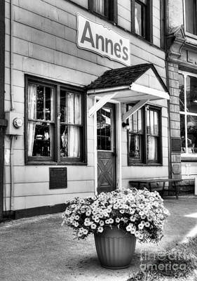 Metamora Photograph - Downtown Metamora Indiana Bw by Mel Steinhauer