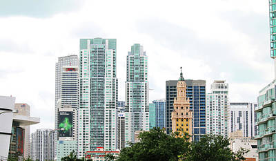 Photograph - Downtown Miami by Art Block Collections