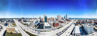 Photograph - Downtown Milwaukee From 200 Feet by Randy Scherkenbach