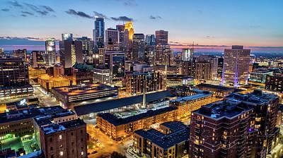 University Of Minnesota Wall Art - Photograph - Downtown Minneapolis At Dusk by Gian Lorenzo Ferretti