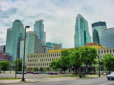Photograph - Downtown Minneapolis Ca 2002 by Robert Meyers-Lussier