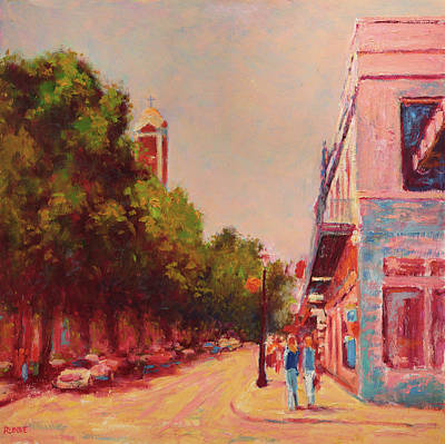 Painting - Downtown Mobile On Dauphin By Cathedral Park by Vernon Reinike