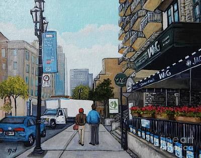 Streets Of Quebec Painting - Downtown Montreal by Reb Frost