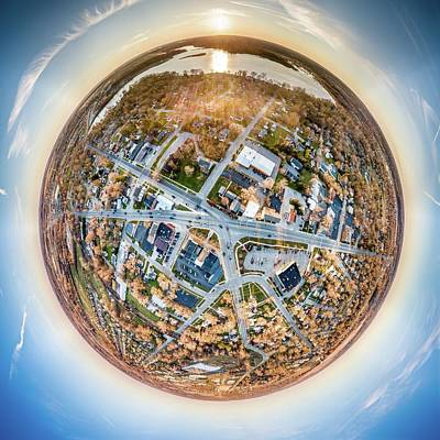 Photograph - Downtown Mukwonago Little Planet by Randy Scherkenbach
