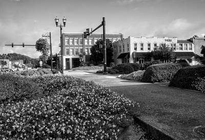 Murphy Photograph - Downtown Murphy North Carolina In Black And White by Greg Mimbs