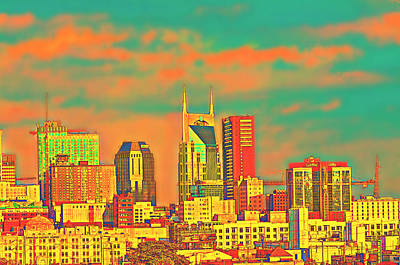 Photograph - Downtown Nashville by Ally White
