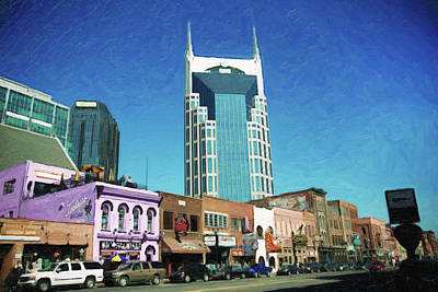 Photograph - Downtown Nashville by Sue Collura