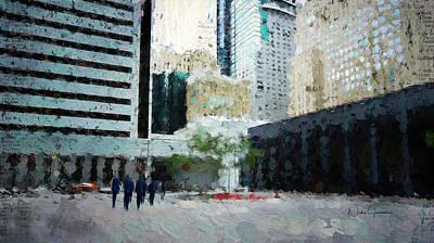 Digital Art - Downtown by Nicky Jameson