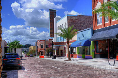 Photograph - Downtown Ocala Theatre by Ules Barnwell