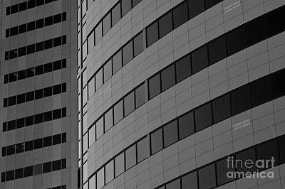 Photograph - Downtown Office Buildings by Jim Corwin